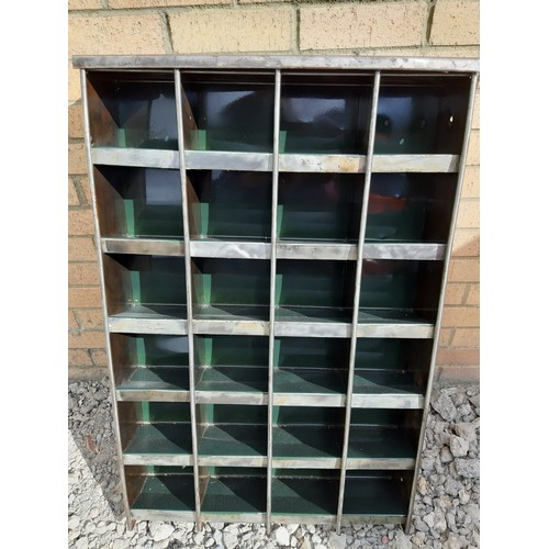 376 - Fully refurbished vintage 24 slot engineering storage unit