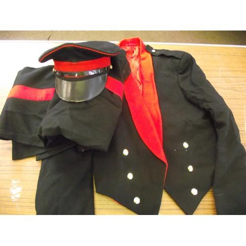 408 - Military Dress uniform and cap.