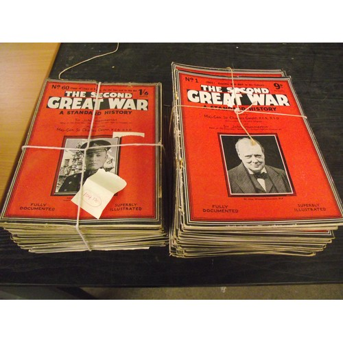395 - Large collection of The Second Great War magazines.