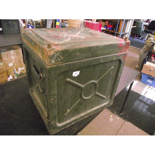 405 - Large Heavy Military transport Metal cube. approx. 2ft sq.