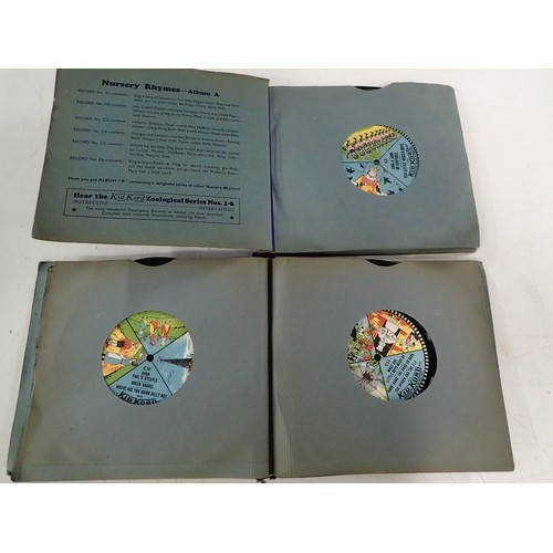 11 - Superb Rare collection of Shellac Kid Kord Nursery Rhymes 71 original rhymes on 12 separate records ...