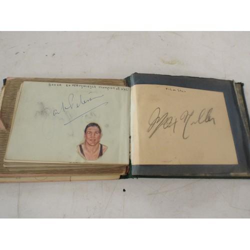 422 - Fantastic vintage Autograph book inc Gracie Fields, Worcester Xl 1937, Glamorgan Xl 1937, Various Bo...