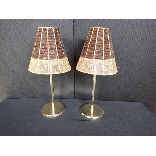 292a - 2 Stunning looking Brass? decorative heavy candle holders. approx 12 inches.