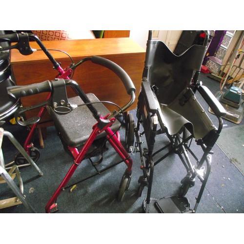 430 - Wheelchair + aid.
