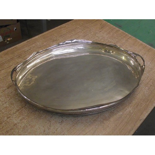 438 - Very large silver plated tray