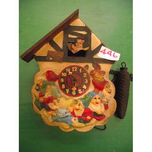 446 - Early Disney Snow White Cuckoo clock.