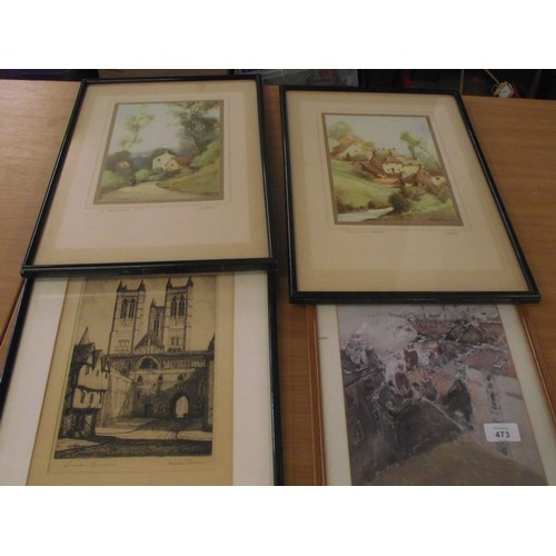 473 - 2 downing prints plus 2 others