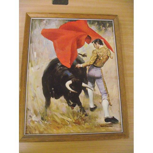 486 - Retro Matador Print by Rico Tomaso. approx 14 x 10 inches.