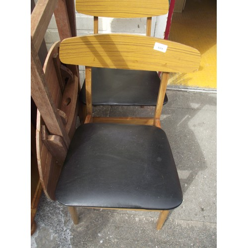 11 - 2 retro chairs...