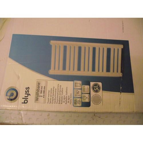 12 - blyss 900mm by 500mm radiator (customer returns)...
