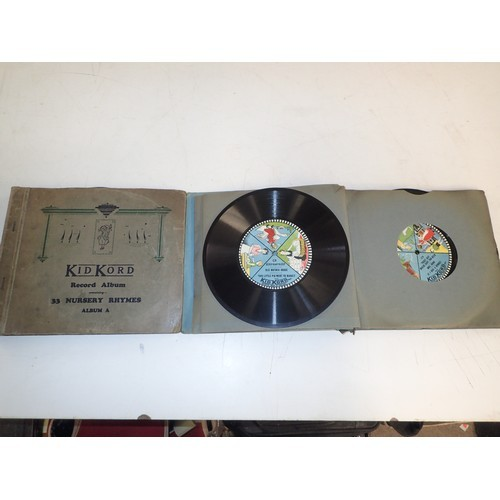 75 - Superb Rare collection of Shellac Kid Kord Nursery Rhymes 71 original rhymes on 12 separate records ...