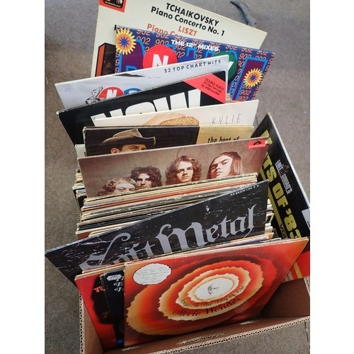 451 - Large box of Vinyl LP's various artists look to be in looked after condition solicitors clearance no...