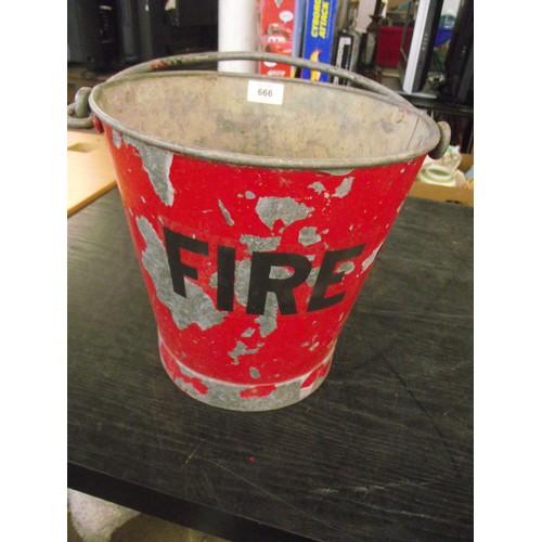 666 - Vintage fire bucket....