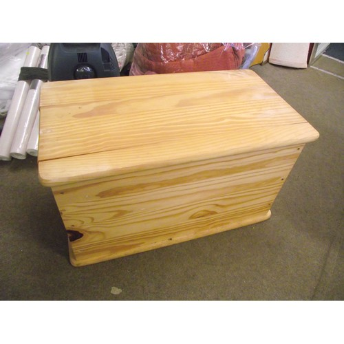 811 - Large pine storage box approx 3ft....