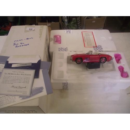 329 - Boxed franklin mint Mercedes benz 300sl roadster