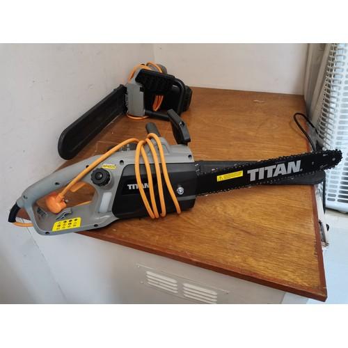 594 - Titan electric chainsaw working.