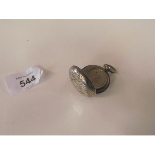 544 - Silver hall marked  soverign holder
