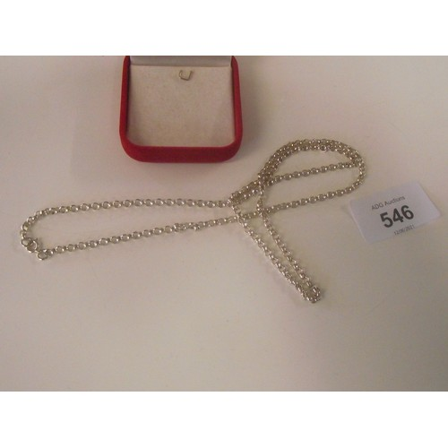 546 - Pretty silver rope necklace weight 11.5g