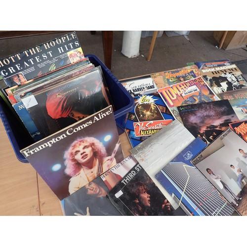 412 - Collection of Good title Vinyl LP's from 1970's - 80's Inc Rock The Jam, Peter Frampton, The Sensati...