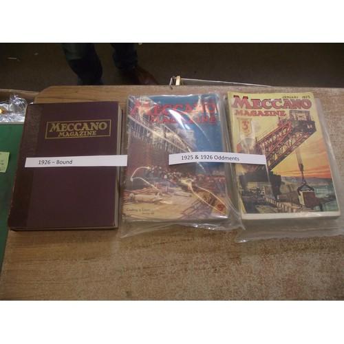 116 - Rare Meccano magazines in good condition. Complete Bound 1925 + complete 1925-26.