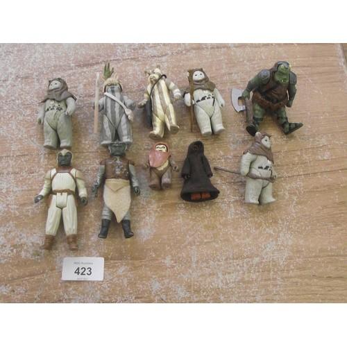 423 - 10 Various 1980's Star Wars Figures.