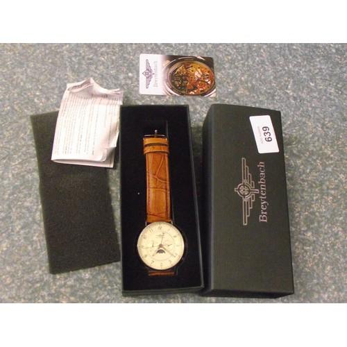 639 - Breytenbach case wristwatch