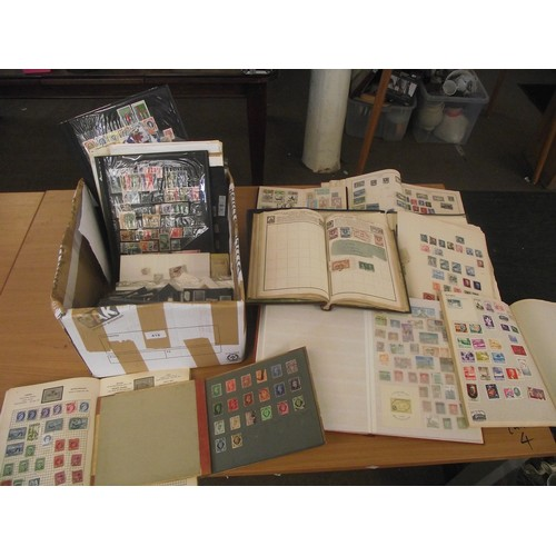 705 - Box of World Stamp Albums, Packs of stamps & Sheets.