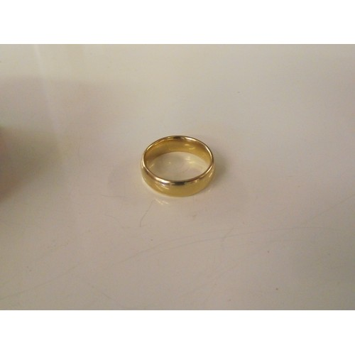 317 - 18 ct gold ring size i weight 5.34 g