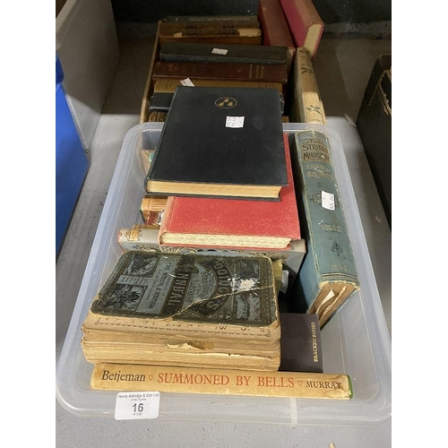 16 - Books: 19th cent. and later, eighteen titles on various subjects including The Strand Magazine, Port...