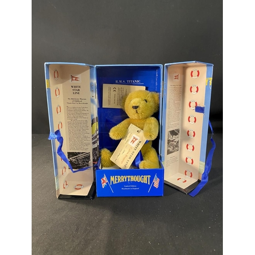 20 - R.M.S. TITANIC: Limited edition, boxed Merrythought Titanic Bear. 6½ins.