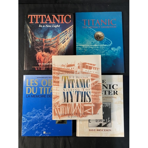 28 - BOOKS: R.M.S. Titanic related modern volumes to include The Birth of The Titanic and A Titanic Myth....