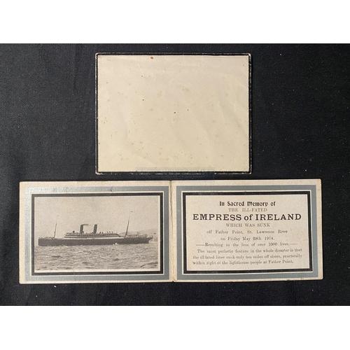 59 - OCEAN LINER: Empress of Ireland In Memoriam mourning card with original black bordered envelope. (2)