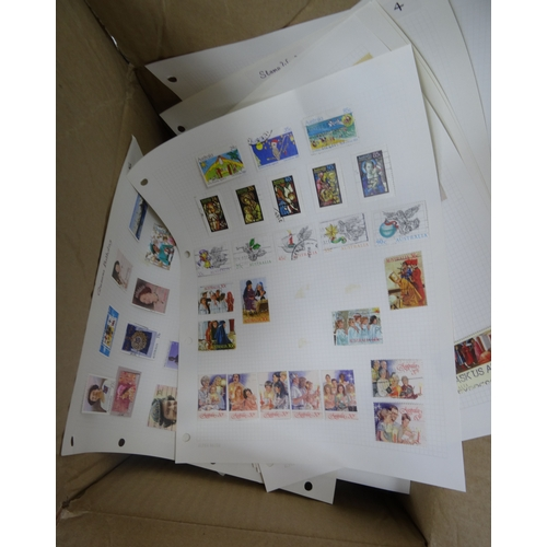 1 - A mainly used QEII selection of loose Australia in small box with packets, a few 197s P.Packs and a ...