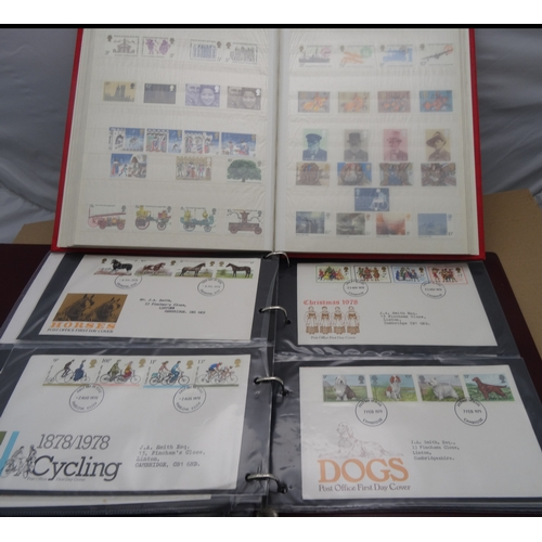 4 - A GB collection of FDCs from 1963-1984 in 3 albums plus stock book of commems from 1963 with mostly ...