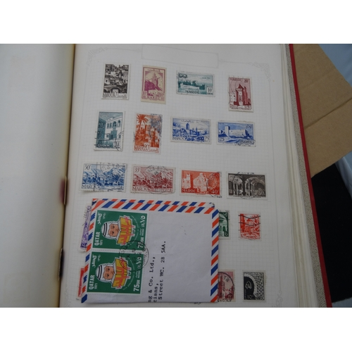 5 - World used accumulation loose in envelopes with stamps and a few covers plus stamp album of issues i...