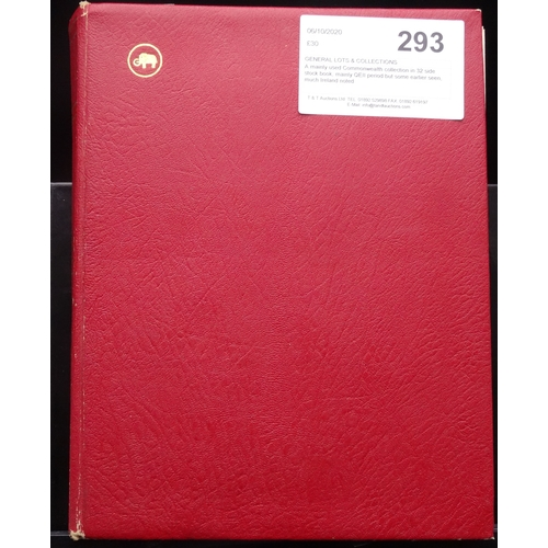 23 - A mainly used Commonwealth collection in 32 side stock book, mainly QEII period but some earlier see...