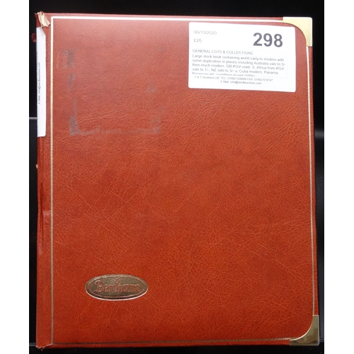 26 - Large stock book containing world early to modern with some duplication in places including Australi...