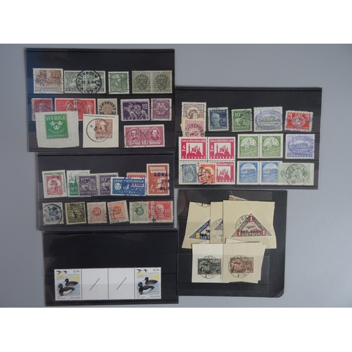 35 - Small selection on stock cards with Sweden early to mid including some Local stamps from Alingsas, G...