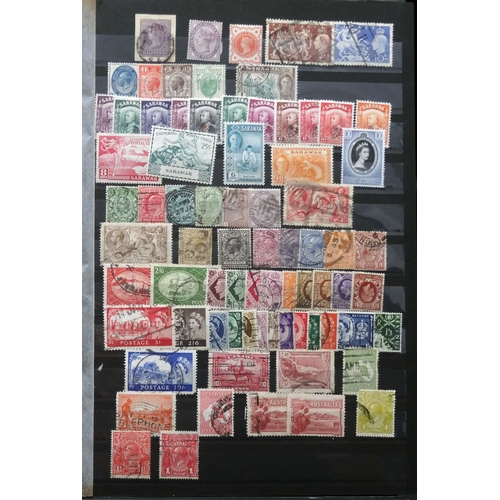 40 - All world mint & used in stock book we note PNG to 5/- u, GB with QV to KGVI vals to 10/- u, Russia ...