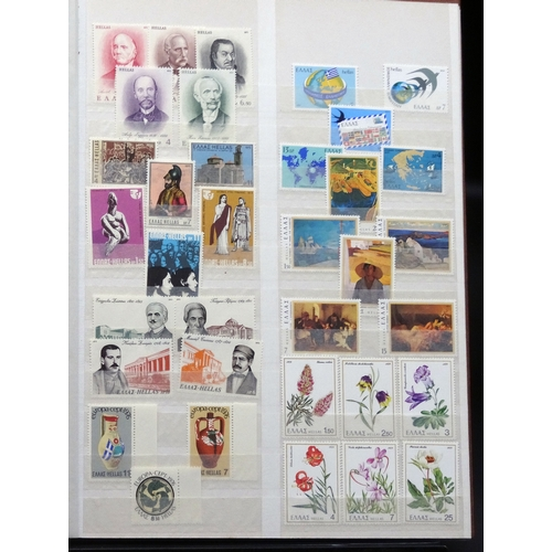 41 - Mainly mint Foreign in stock book including Greece, San Marino, France, Germany etc, condition fair ...