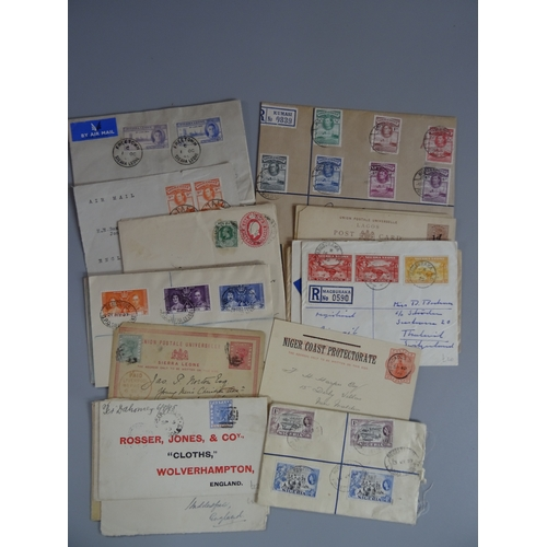 37 - Commonwealth collection of prepaid postcards and covers we note Sierra Leone, Gold Coast & Nigeria Q...