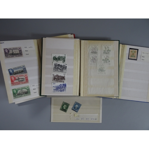 38 - A small mainly mint selection in 3 small stock books, we note Br. Solomon Islands ½d plate proof, Fi...