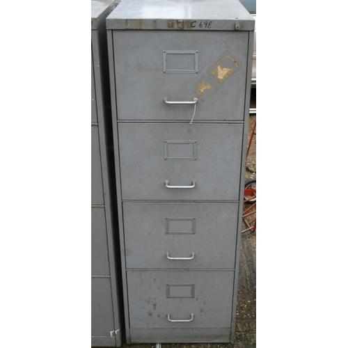 43 - Large Art metal four drawer filing cabinet...
