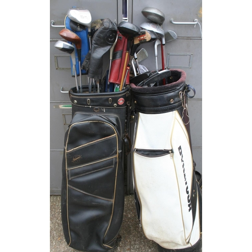 47 - Two bags of assorted golf clubs...