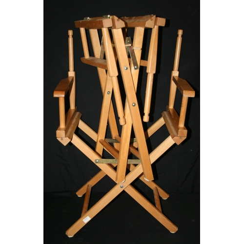 44 - Two folding director chair frames...