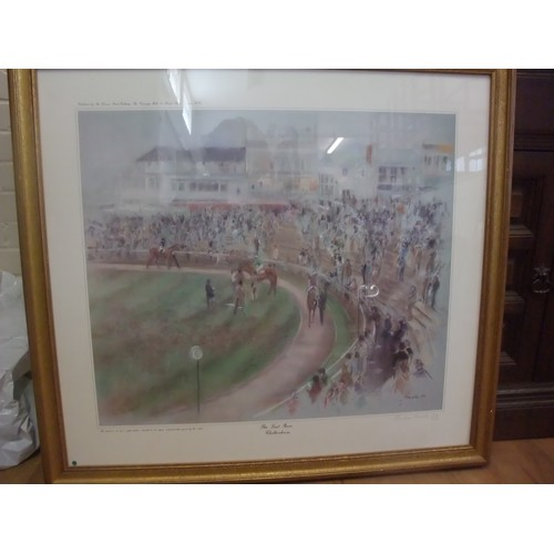 37 - Jonathan Trowell, 87- 'The Last Race at Cheltenham', 59cm x 49cm, limited edition print no. 212 of 2...