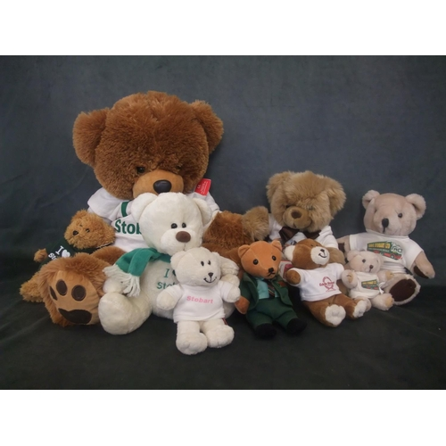 52 - A quantity of Eddie Stobart teddy bears, by Metro Soft Toys (9)....