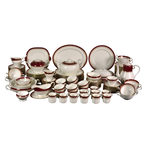 17 - A extensive Aynsley Durham pattern part tea and dinnerware service, to include a small and large tea...