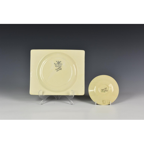 8 - A Clarice Cliff Rhodanthe plate, 1933-48, Bizarre Biarritz, of rectangular form with bowled centre, ...