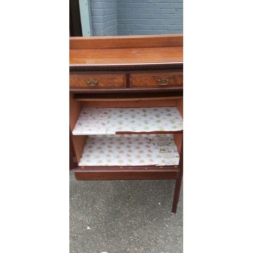 12 - Mahogany Cabinet (90cm Wide 50cm Deep 100cm Tall)...